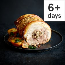 Tesco Finest Crackling Three Pork Roast with Apple, Cranberry and Honey Stuffing 1.5kg-1.8kg, Serves 6