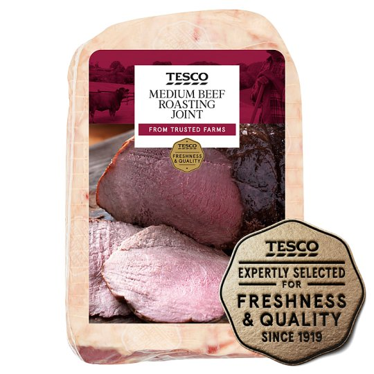 Tesco Medium Beef Roasting Joint With Basting Fat
