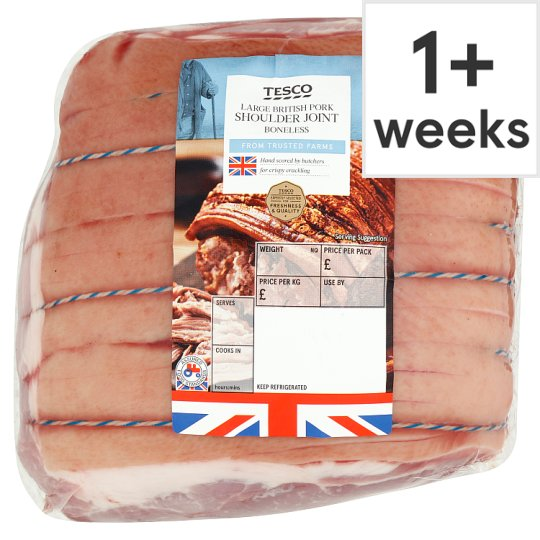 Tesco Large Vacuum Pack Pork Shoulder Joint