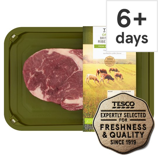Tesco Organic Beef Ribeye Steak