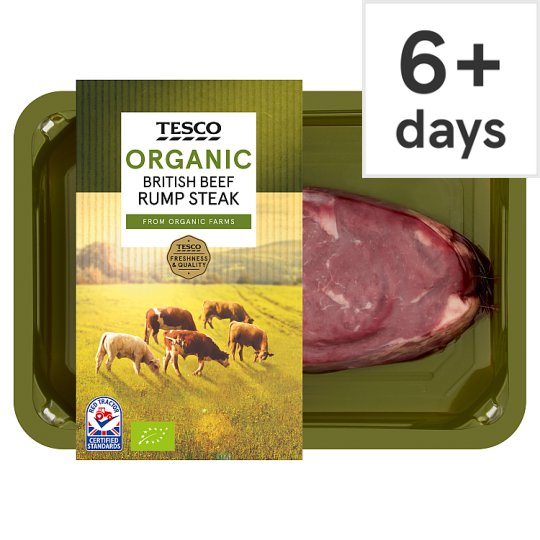 Tesco Organic Beef Small Rump Steak