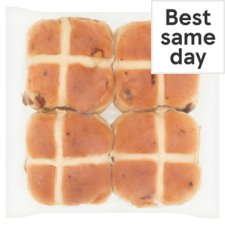 image 1 of Tesco Hot Cross Buns 4 Pack