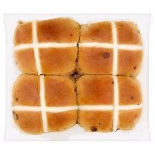 image 2 of Salted Caramel And Choco Chip Hot Cross Buns 4 Pack