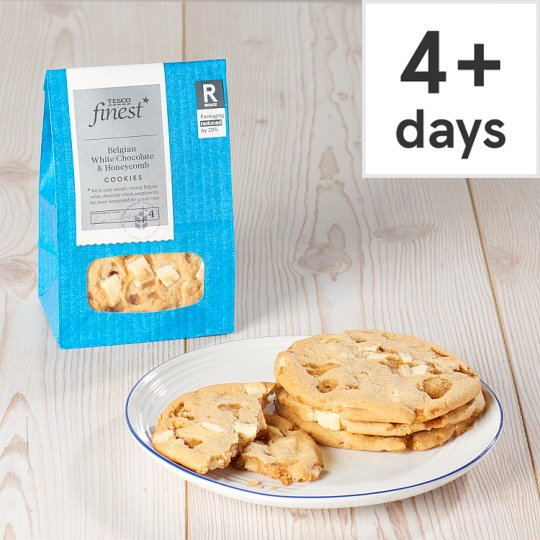 Finest white chocolate and honeycomb cookie 4 pack tesco groceries finest white chocolate and honeycomb cookie 4 pack solutioingenieria Images