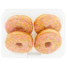 Tesco Strawberry Iced Ring Doughnut 4 Pack