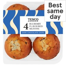 Tesco Blueberry Muffins 4 Pack