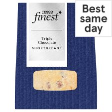 Tesco Finest Triple Chocolate Shortbread 4 Pack