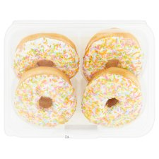 Tesco White Iced Doughnuts 4 Pack