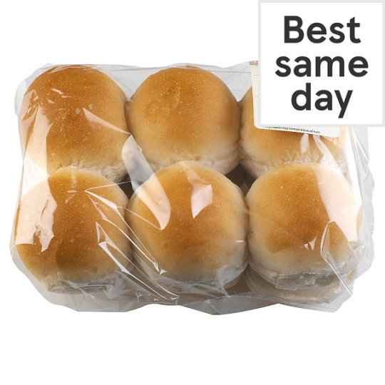 Tesco White Snack Roll 12 Pack