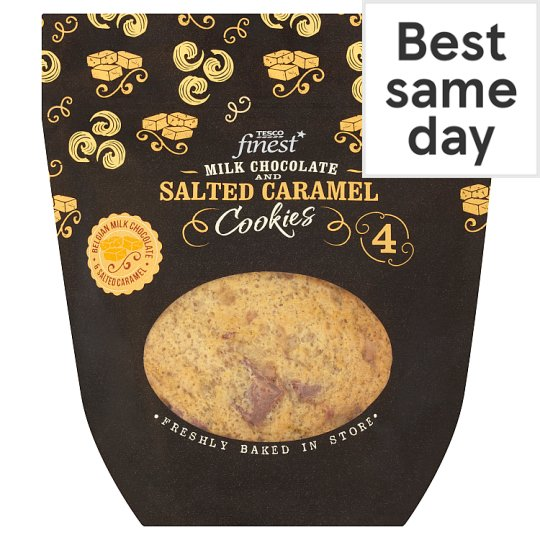 Tesco finest salted caramel and milk chocolate cookie 4 pack tesco tesco finest salted caramel and milk chocolate cookie 4 pack solutioingenieria Image collections