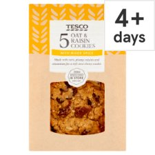 Tesco Oat And Raisin Cookies 5 Pack