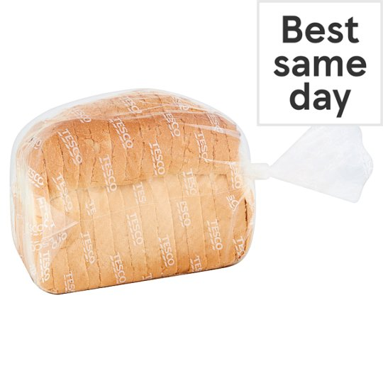 Tesco Crusty White Split Tin Sliced Bread 400G