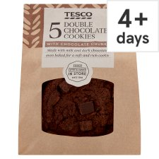 Tesco Double Chocolate Cookies 5 Pack
