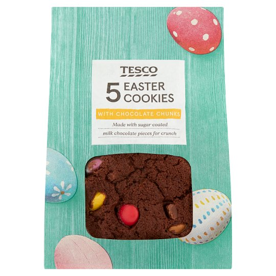 Tesco Smashed Chocolate Egg Cookies 5 Pack