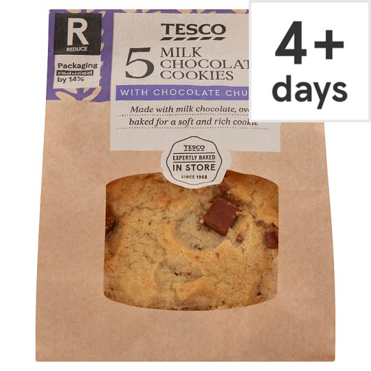 Tesco Milk Chocolate Cookie 5 Pack