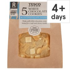 Tesco White Chocolate Cookies 5 Pack