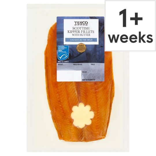 Tesco Smoked Kippers With Butter