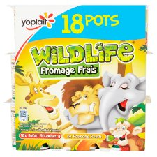 Wildlife Strawberry And Peach Fromage Frais 18 X45g