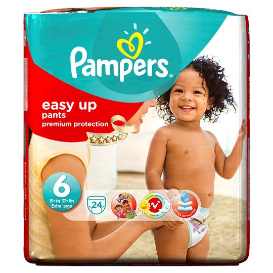Pampers Easy Ups Size 6 Essential Pack 24 Nappies