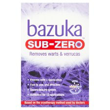Bazuka Sub Zero Warts And Verucca 50Ml