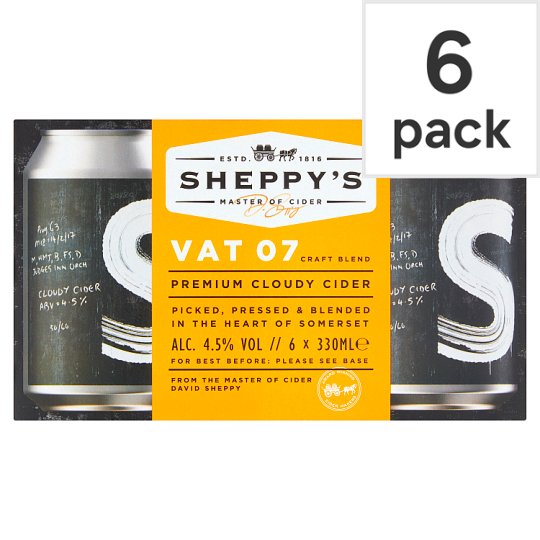 Sheppy' S Vat 7 Cloudy Cider 6X330ml Can