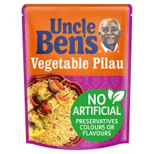 Uncle Bens Microwave Vegetable Pilau Rice 250G