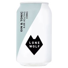 Lonewolf Gin And Tonic 330Ml Can