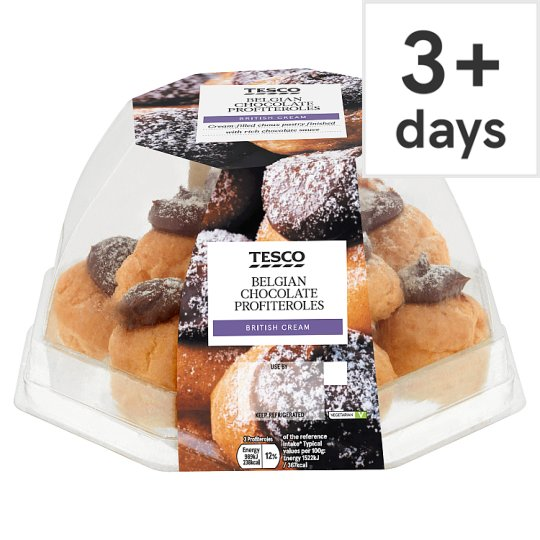 Tesco Chocolate Profiterole 12 Stack