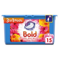 Bold 3In1 Washing Capsules Bloom& Yellow Poppy 15 Washes