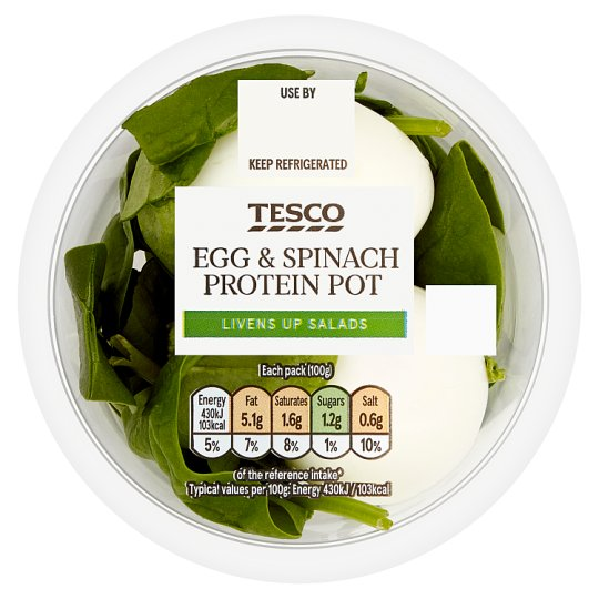 Tesco Egg And Spinach 100G