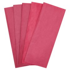 Tesco Cerise Tissue 5 Sheets