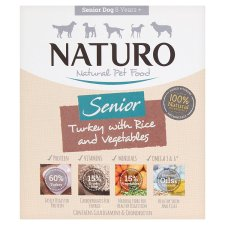 Naturo Senior Turkey Rice And Vegetable Dog Food Tray 400G