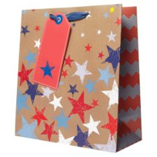 Tesco Star Kraft Bag Medium