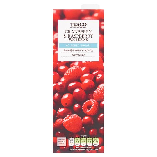 Tesco No Added Sugar Cranberry Raspberry Juice Drink 1 Litre