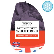 Tesco British Frozen Small Basted Whole Turkey Bird 2.6Kg - 3.8KG