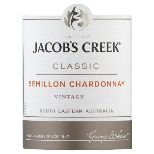 Jacobs Creek Semillon Chardonnay 18.7Cl