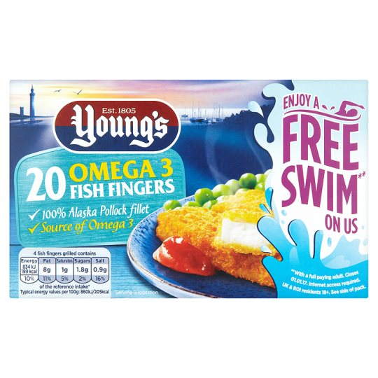 Youngs 20 Fish Fingers 500G