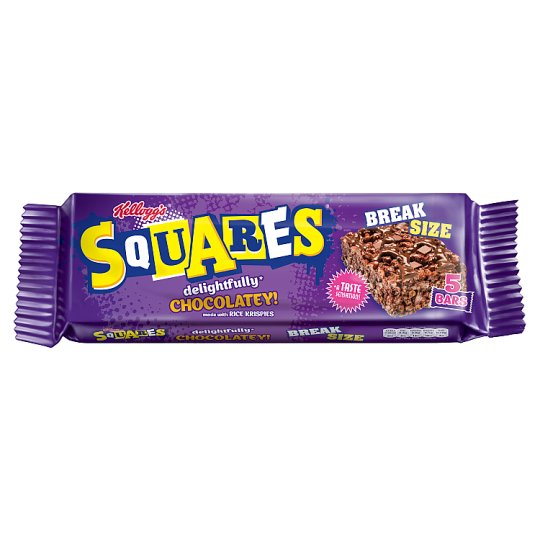 Kelloggs Squares Chocolate Breaksize 5 Pack
