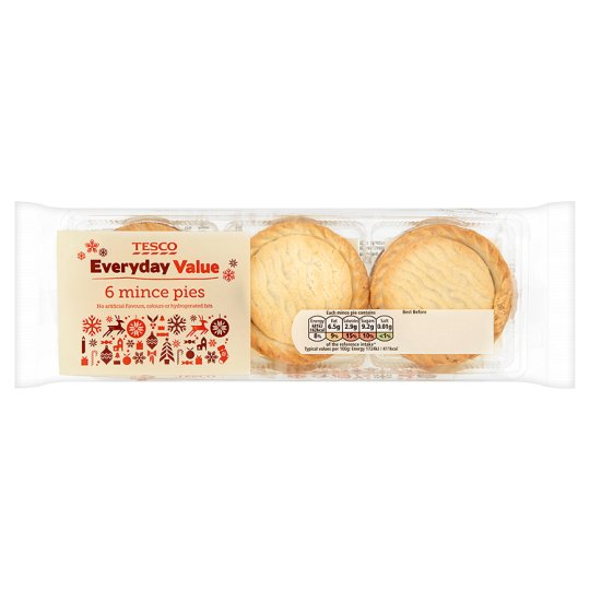Tesco Everyday Value Mince Pies 6 Pack