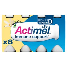 image 1 of Actimel Vanilla Yogurt Drink 8 X100g