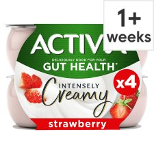 Activia Intensely Creamy Strawberry 4X110g