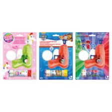 Licensed Bubble Gun With Lights Assorted