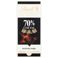 Lindt Excellence Dark 70% Cocoa Chocolate Bar 100G