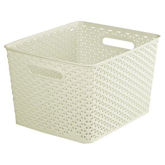 Curver My Style 18l Large Box Cream Groceries Tesco Groceries