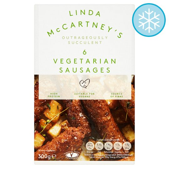 Linda Mccartney 6 Vegetarian Sausages 300G
