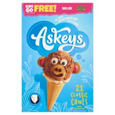 Askeys Round Icecream Cones 21Pk