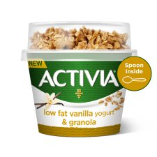 Activia Breakfast Topper Vanilla Yogurt & Spoon 165G