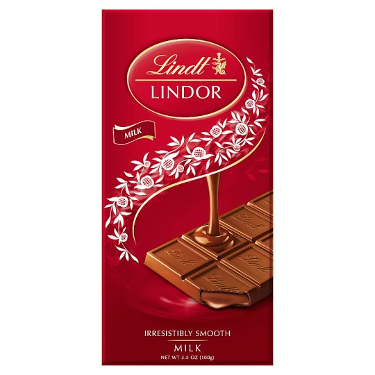 Lindt Lindor Milk Chocolate Bar 100g Groceries Tesco
