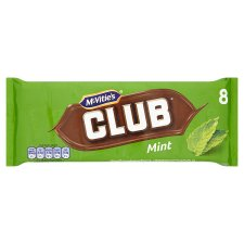 Mcvitie's Club Mint Chocolate Biscuit 8 Pack 176G