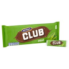 image 2 of Mcvitie's Club Mint Chocolate Biscuit 8 Pack 176G